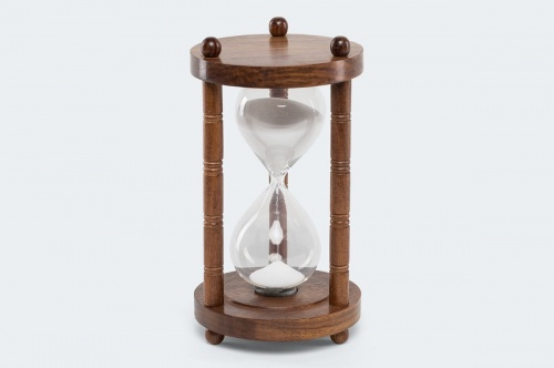 Masywnie Klepsydra drewniana - 30 minutowa. Stylowa dekoracja HC53